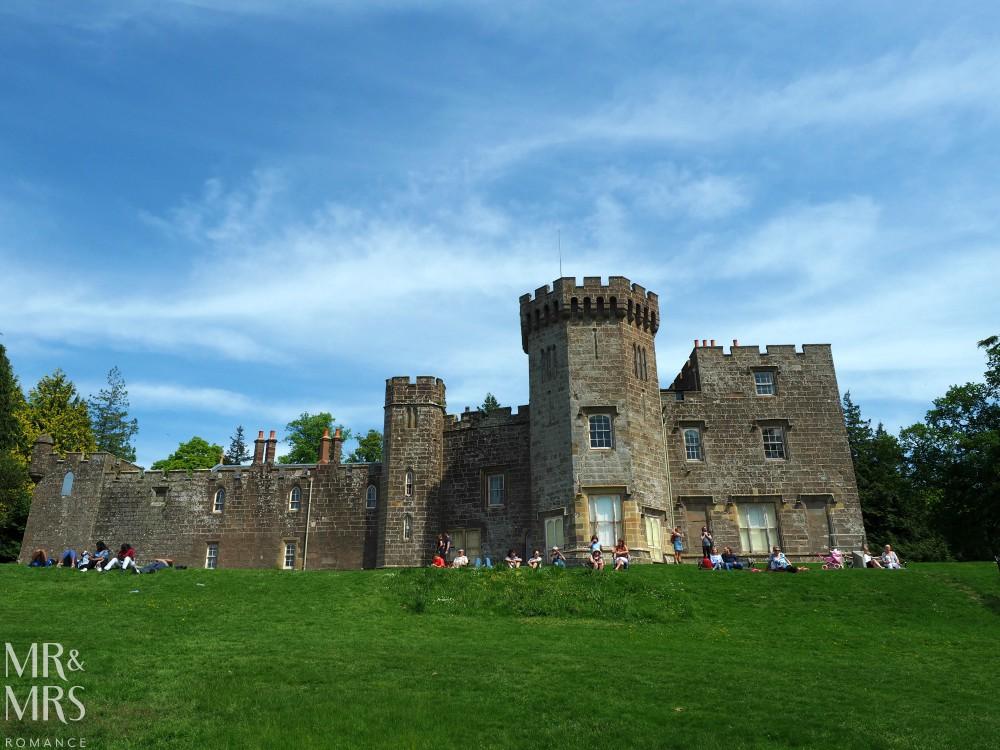 Loch Lomond without a car - Mr & Mrs Romance - Balloch Castle front