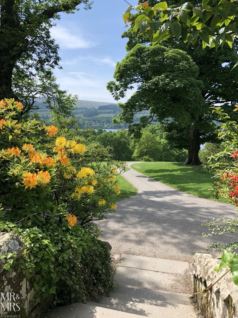 Loch Lomond castle gardens