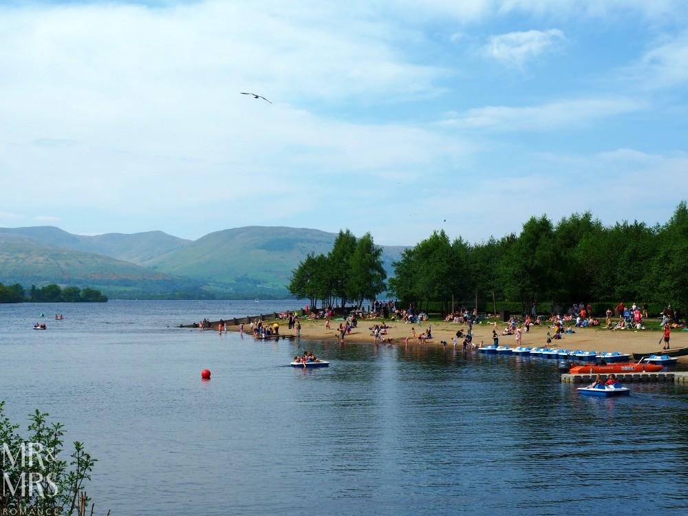 Loch Lomond without a car - Mr & Mrs Romance - Loch Lomond beach