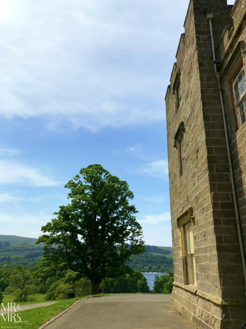 Loch Lomond without a car - Mr & Mrs Romance - view from Balloch Castle