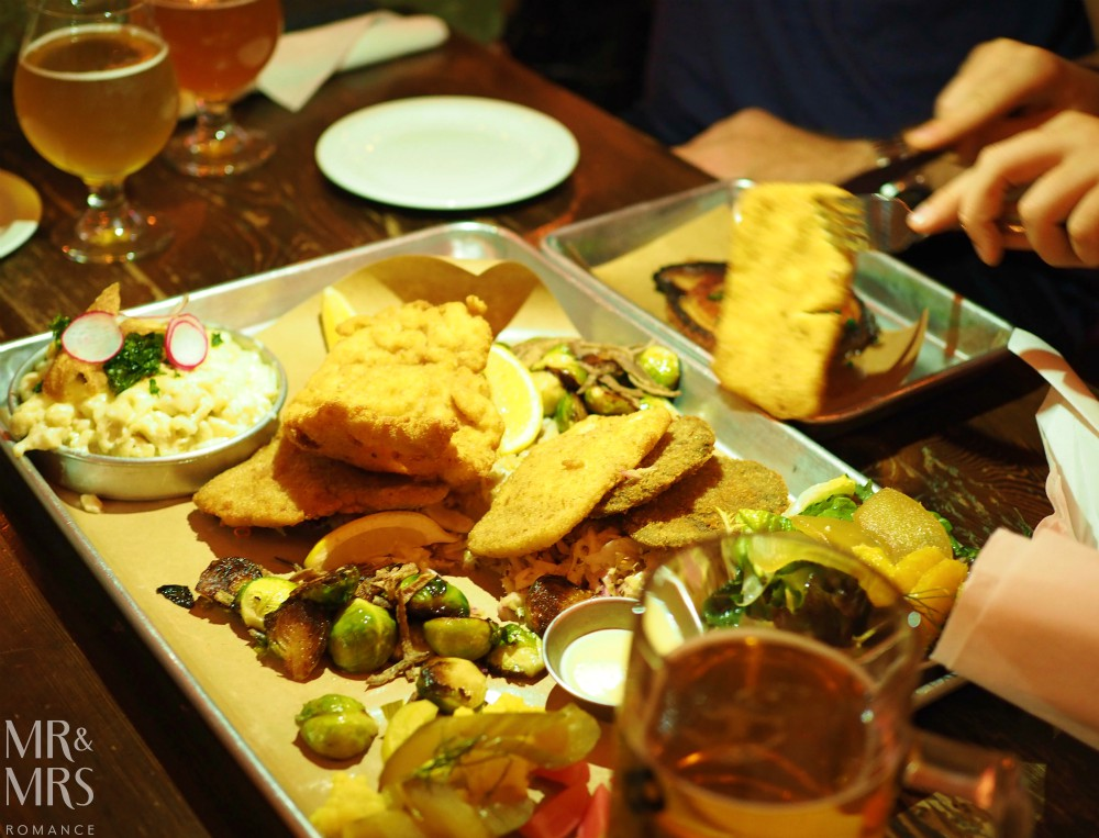 Where to eat in Toronto - Otto's Bierhalle platter - Mr & Mrs Romance