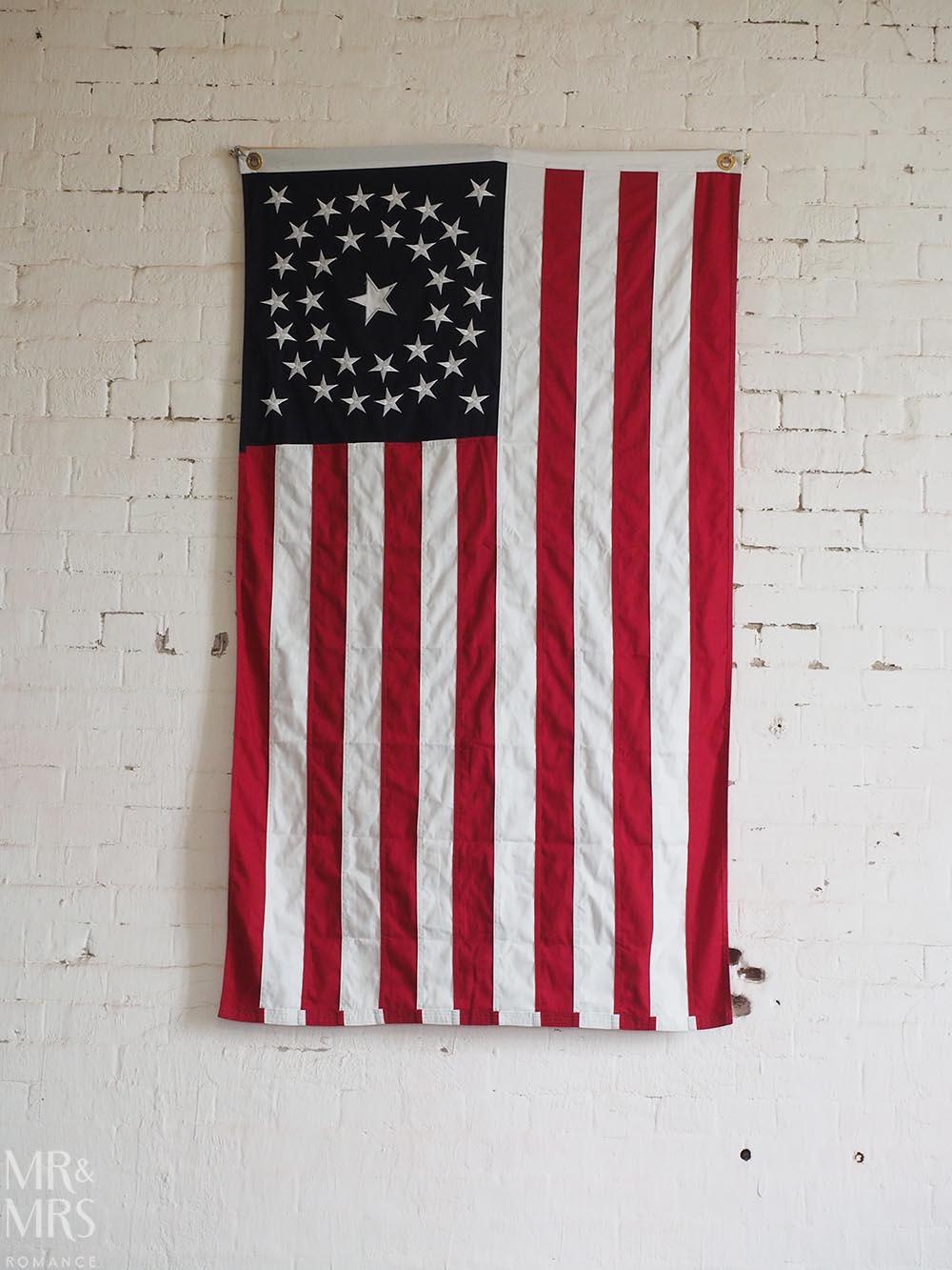 Alcatraz Island American Flag