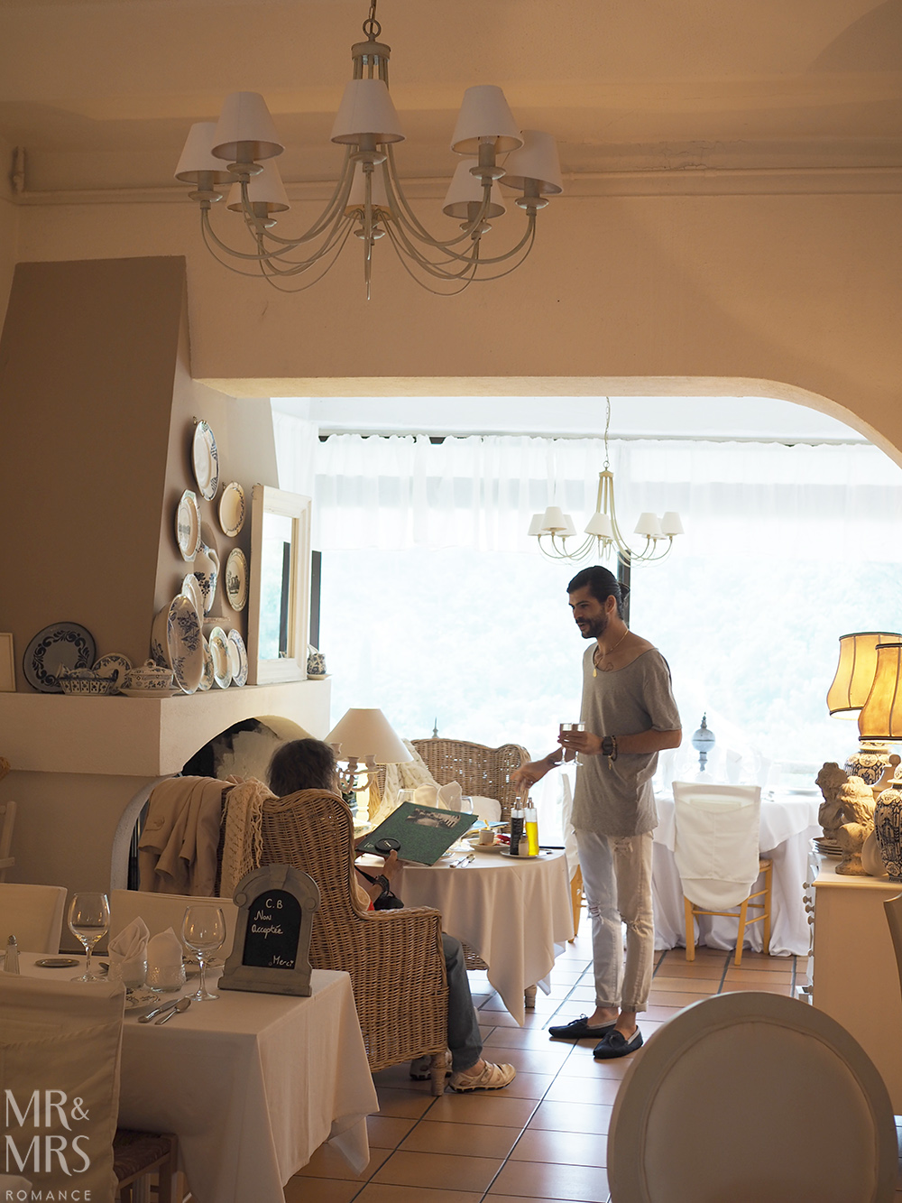Inside the Restaurant Beau Sejour Gorbio - Mr & Mrs Romance