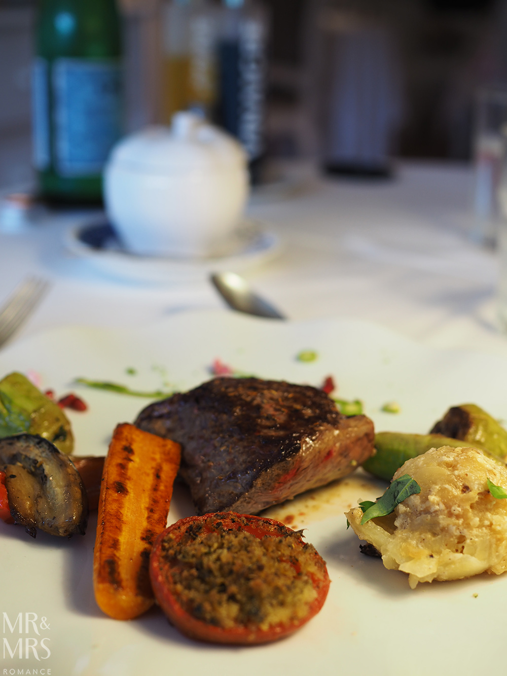 Pave de boeuf at Restaurant Beau Sejour Gorbio - Mr & Mrs Romance