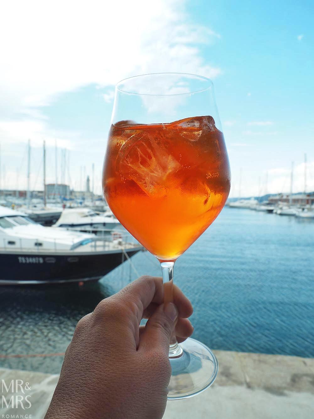 Trieste guide - spritz Eataly