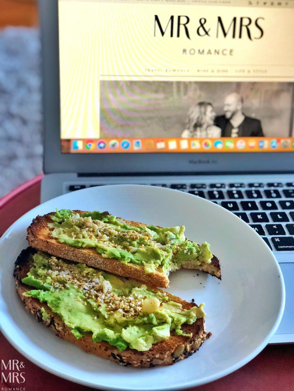 Mr & Mrs Romance - avocado toast