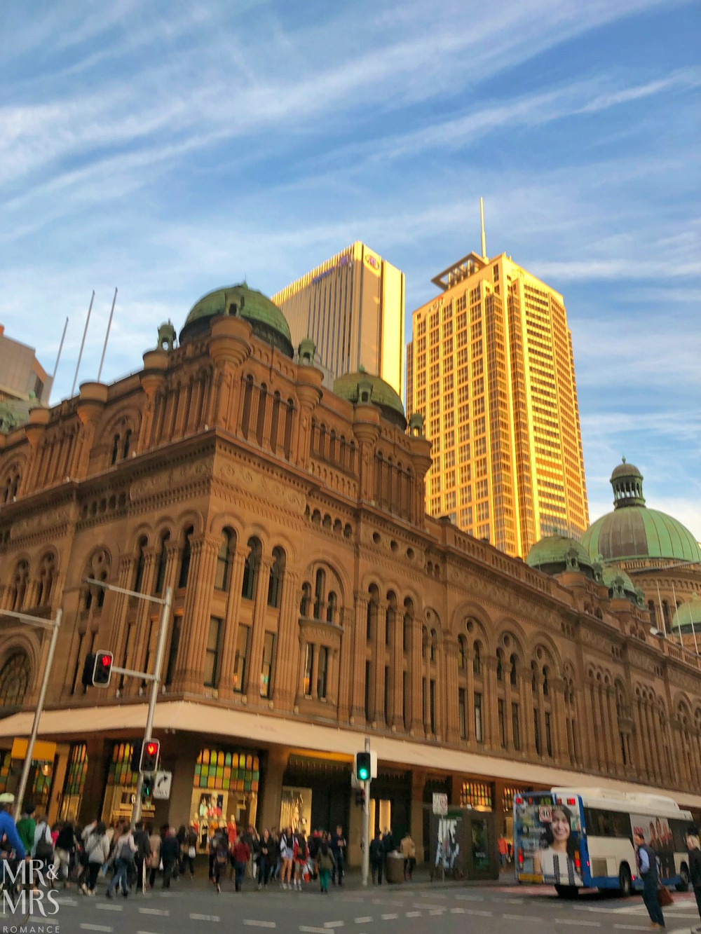 Sydney CBD golden hour - QVB