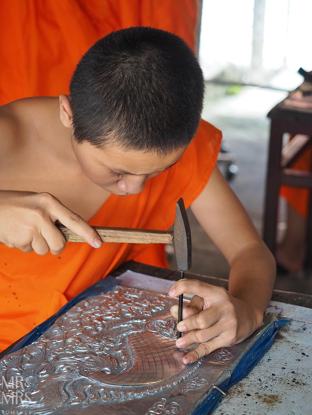 Bangkok and Chiang Mai, Thailand - Weekly Edition - monk silver workshop