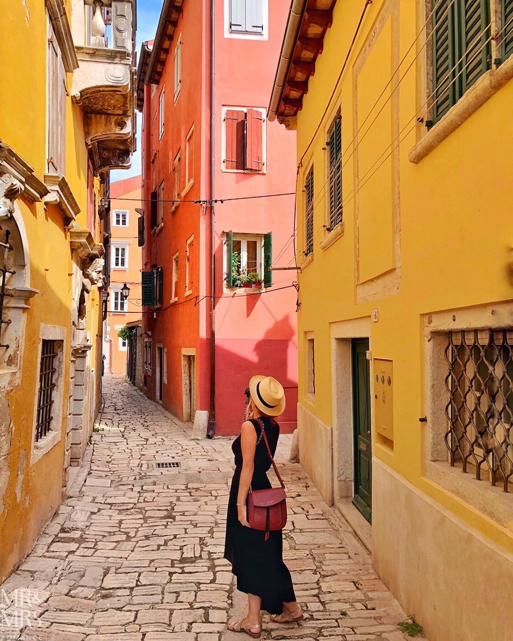 The narrow, cobbled streets of Istria, Croatia