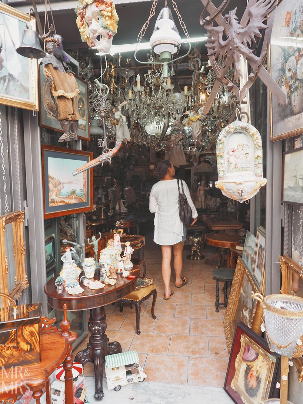 Is Naples safe? Exploring antiques stores in Naples Italy