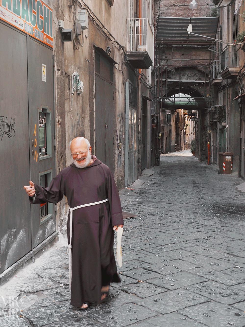 Is Naples safe? A monk wanders in Naples Italy