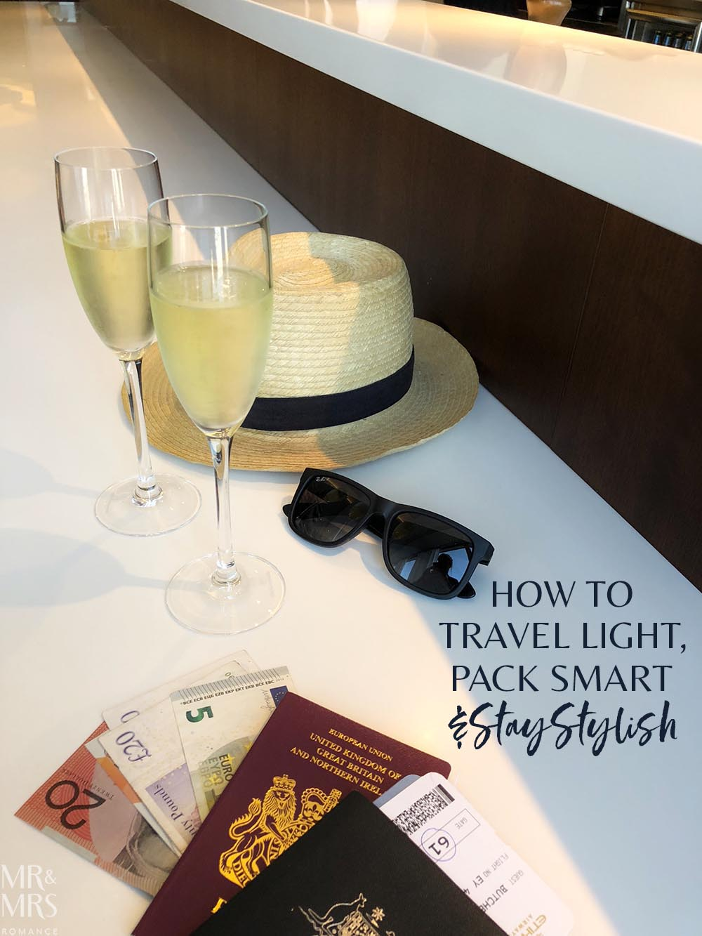 How to travel light, pack smart and stay stylish - champagne to start #wortharrivingearlyfor