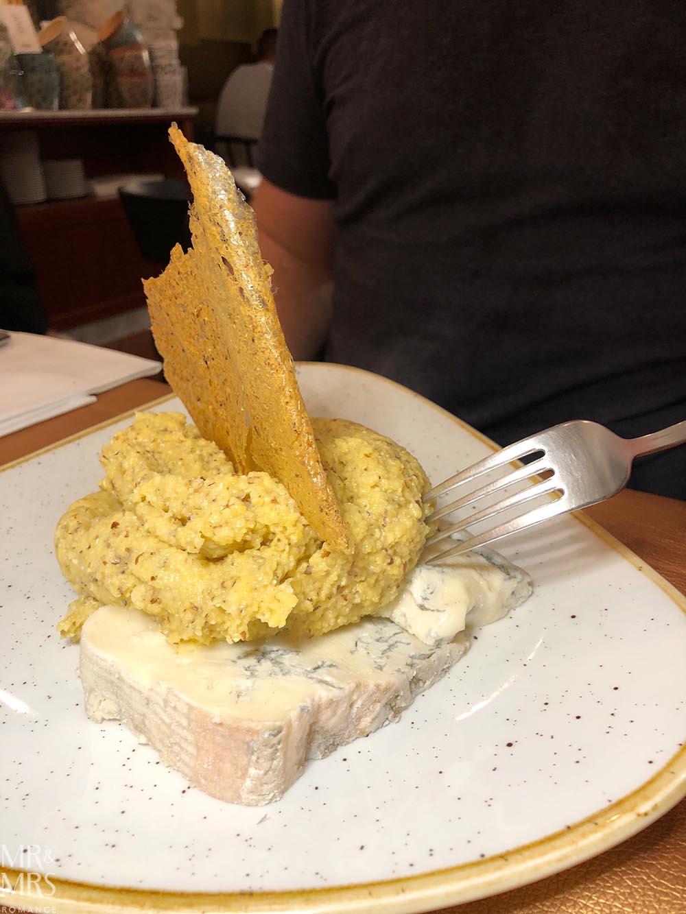 Bergamo Lalimentari polenta gorgonzola Italy