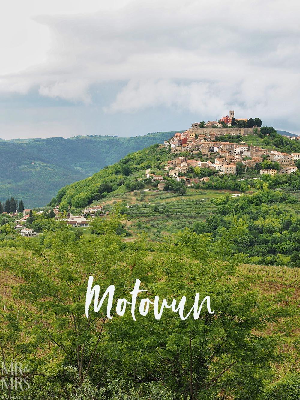Motovun Hilltop town Croatia Istria