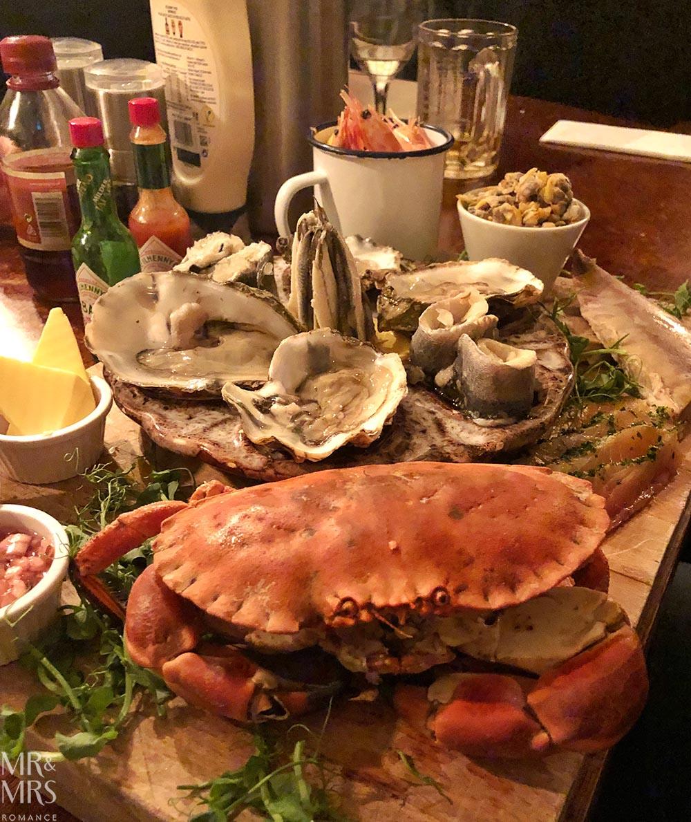 Norfolk, Suffolk, Sussex, Essex - Alma Inn Harwich seafood platter
