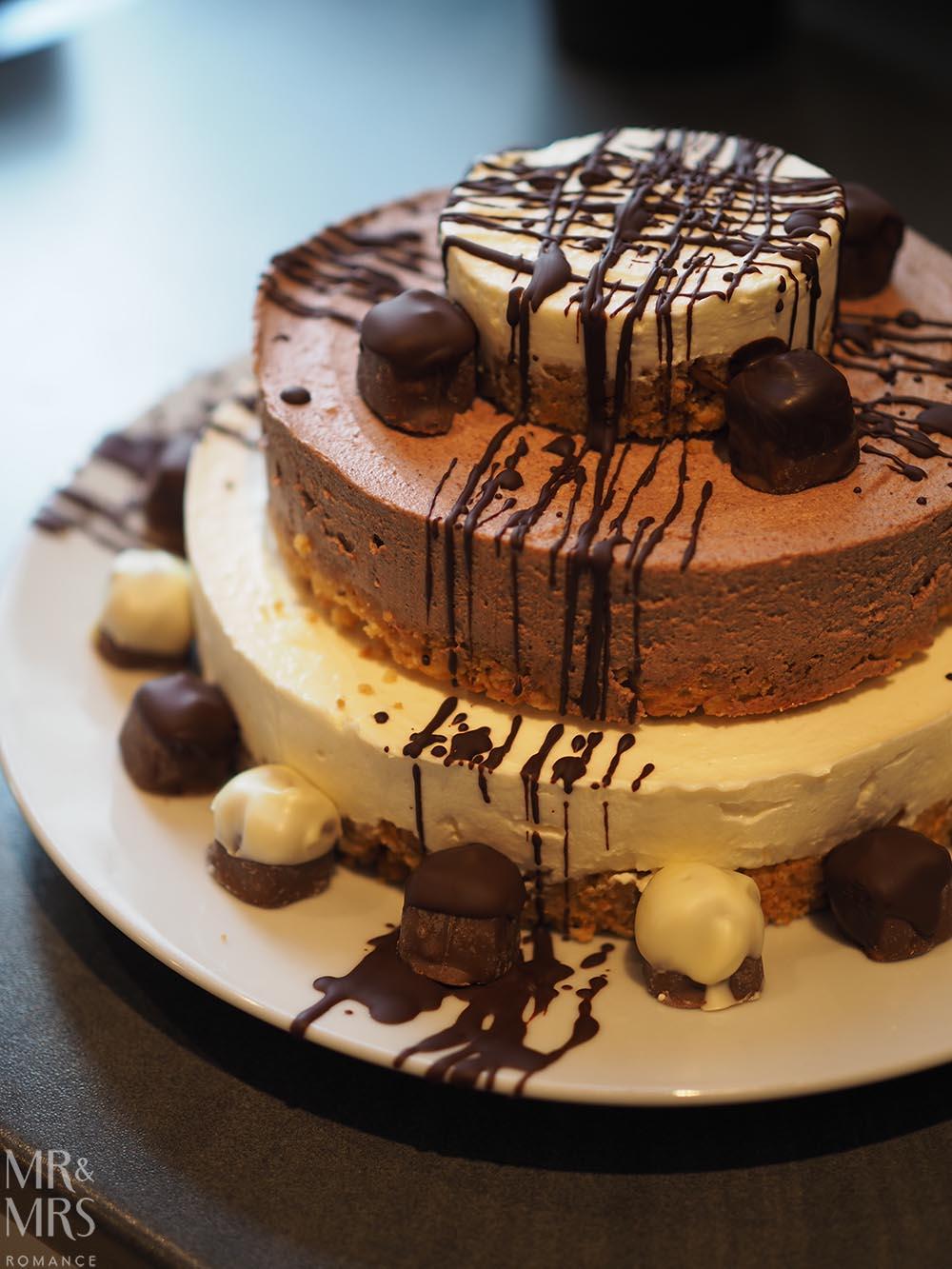 Norfolk, Suffolk, Sussex, Essex - birthday cheesecake