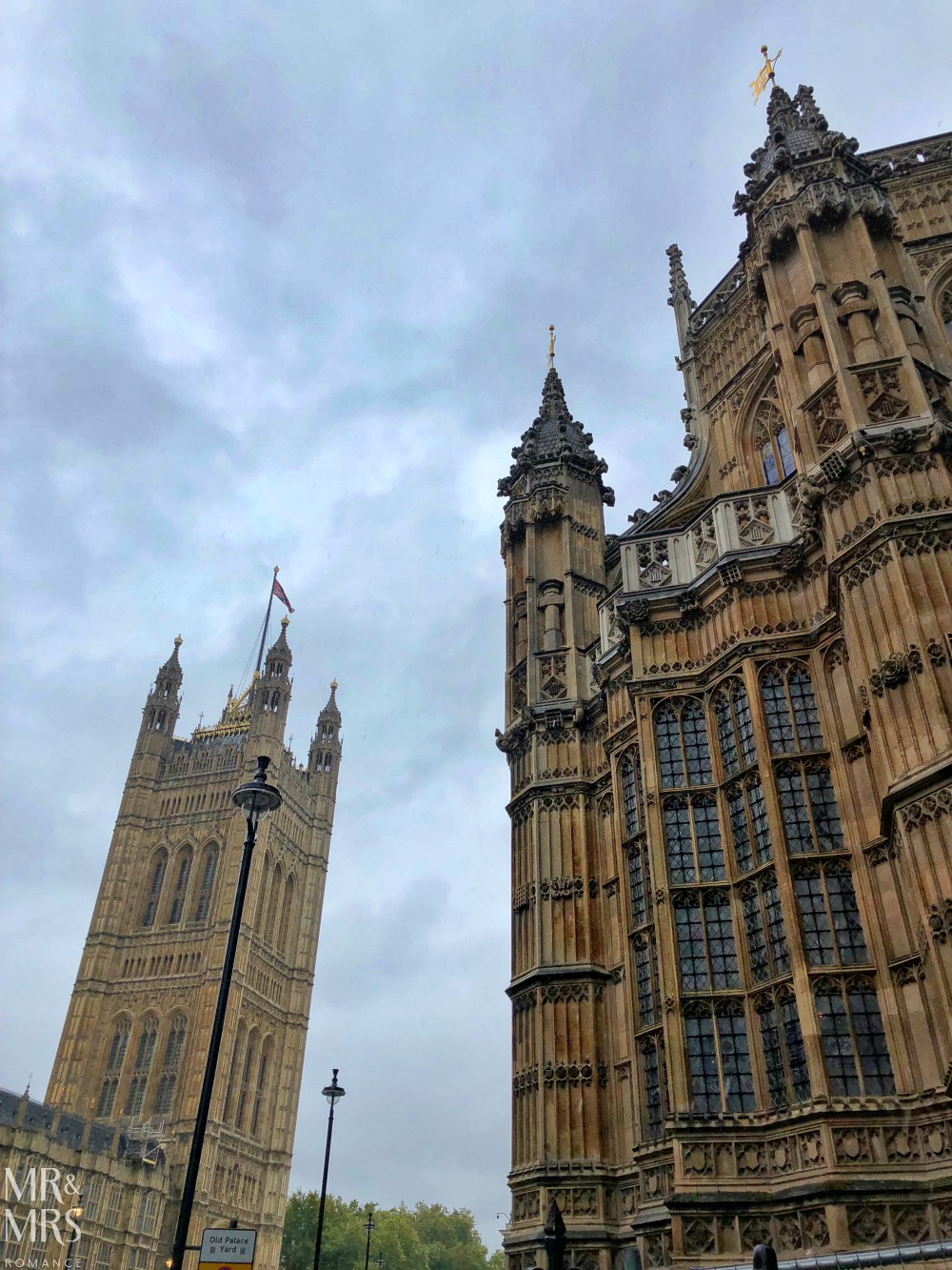 London in the rain - Westminster