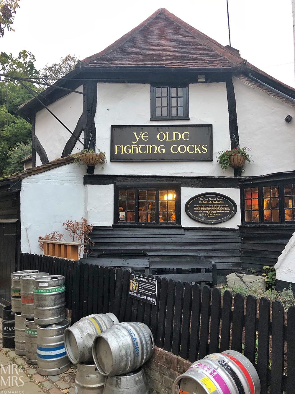 Ye Olde Fighting Cocks St Albans - Oldest pub in Britain