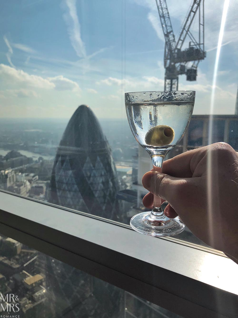 Martini at Duck and Waffle London