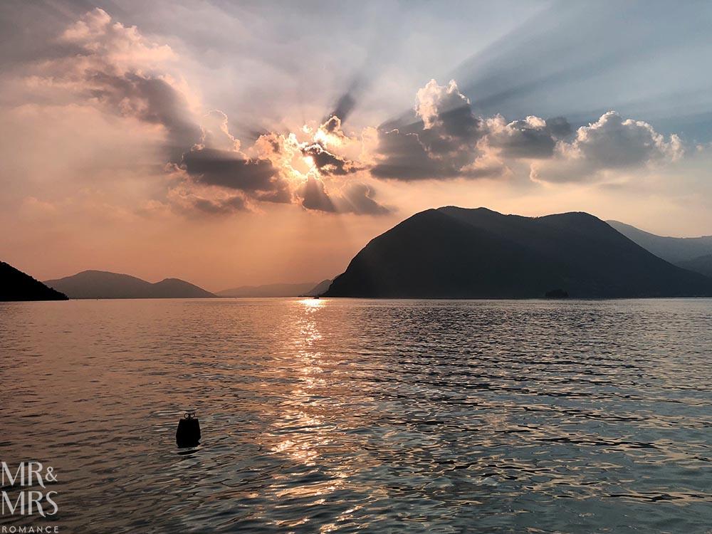 Lake Iseo Sulzano Italy Monte Isola