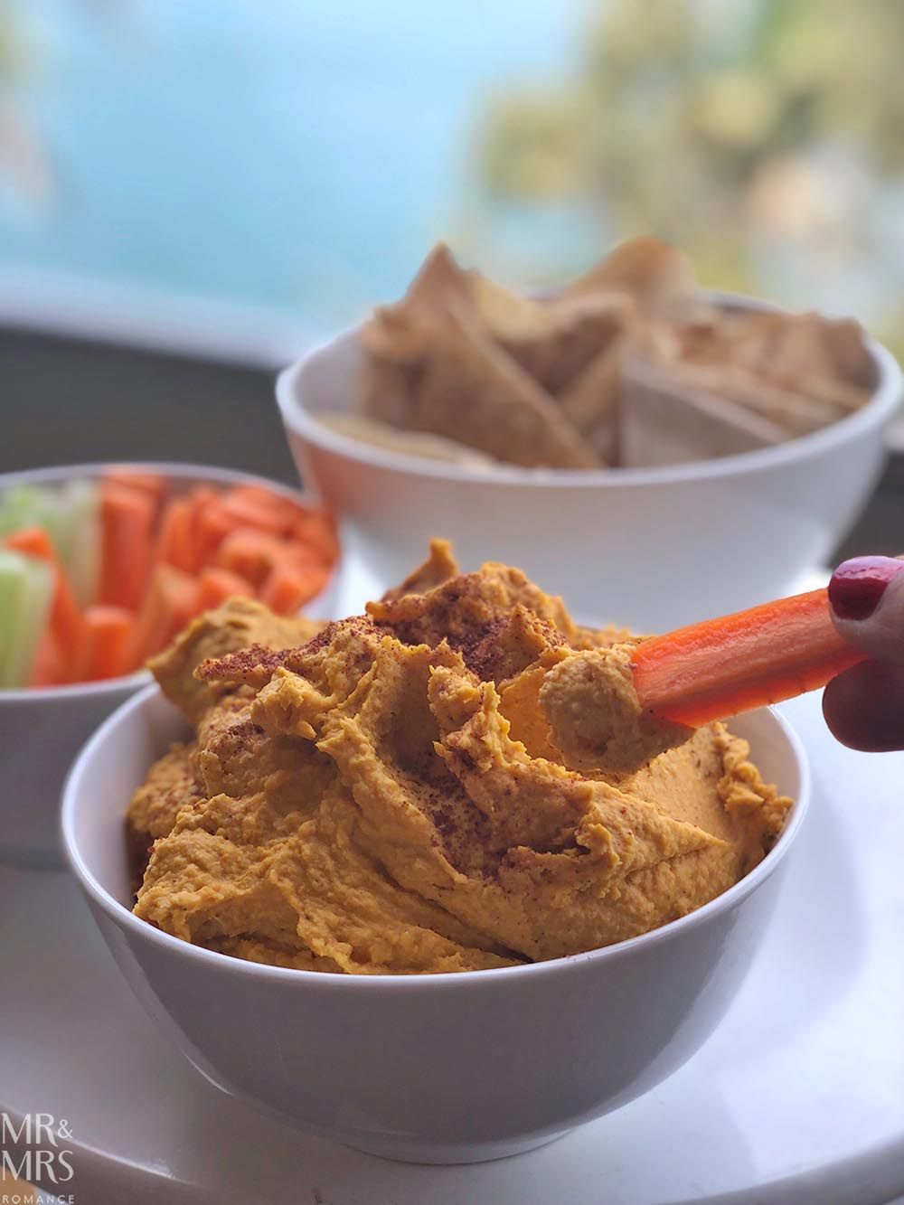 The Annoyed Thyroid - Sammie's pumpkin hummus dip