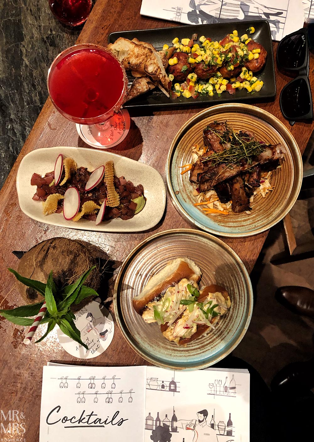 Four Seasons Sydney Grain Bar Spring Summer cocktail menu - spread