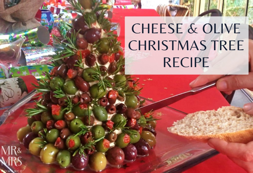Cheese and olive Christmas tree Christmas recipe - feature