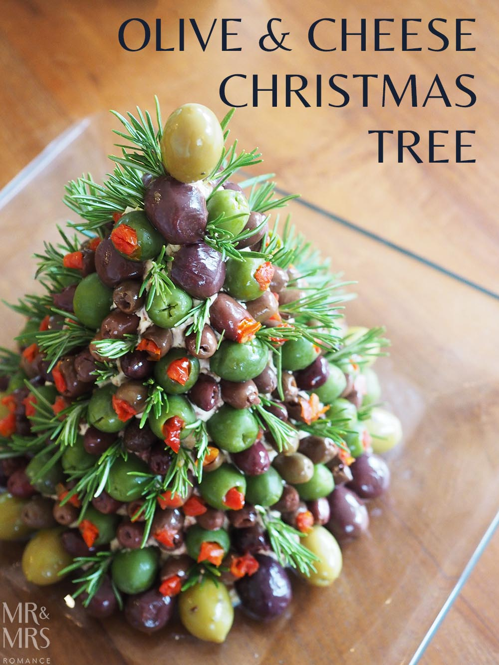 Cheese and Olive Christmas Tree Recipe - Mr & Mrs Romance