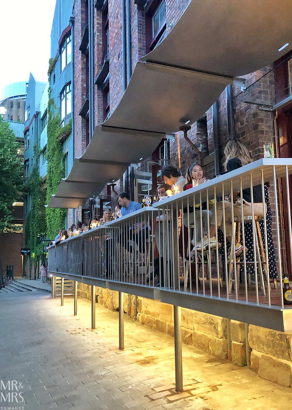 Tayim restaurant Sydney - balcony