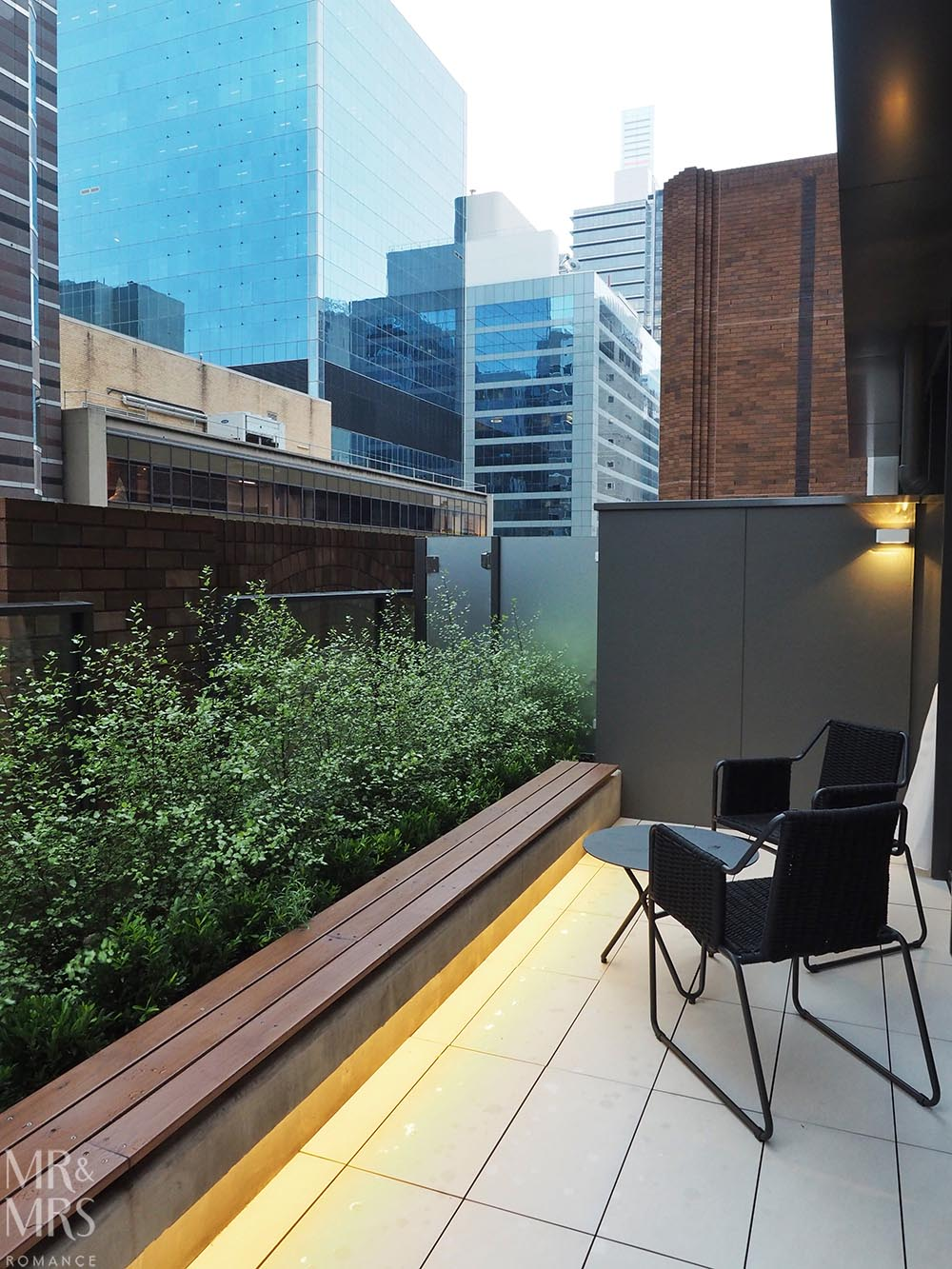 Skye Suites Sydney Kent Street balcony