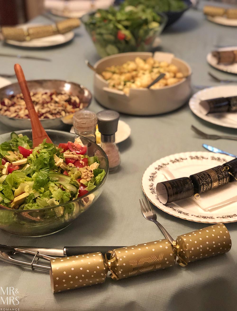 Family Christmas party - table