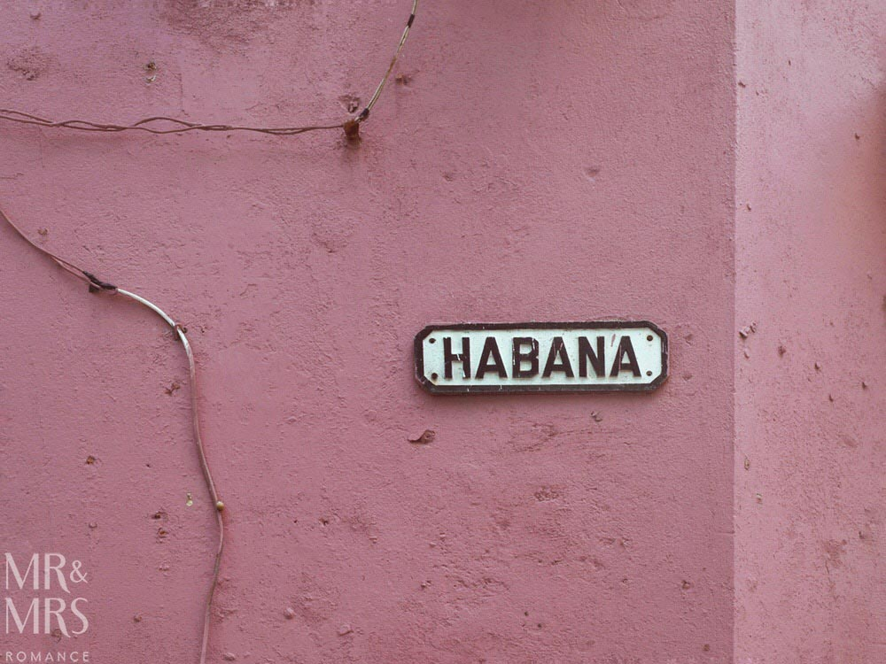 Street signs - Havana Cuba