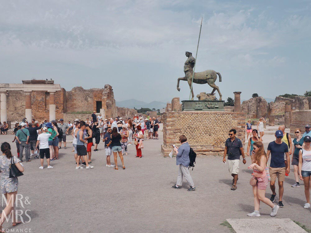Do you need a tour guide in Pompeii? Main square