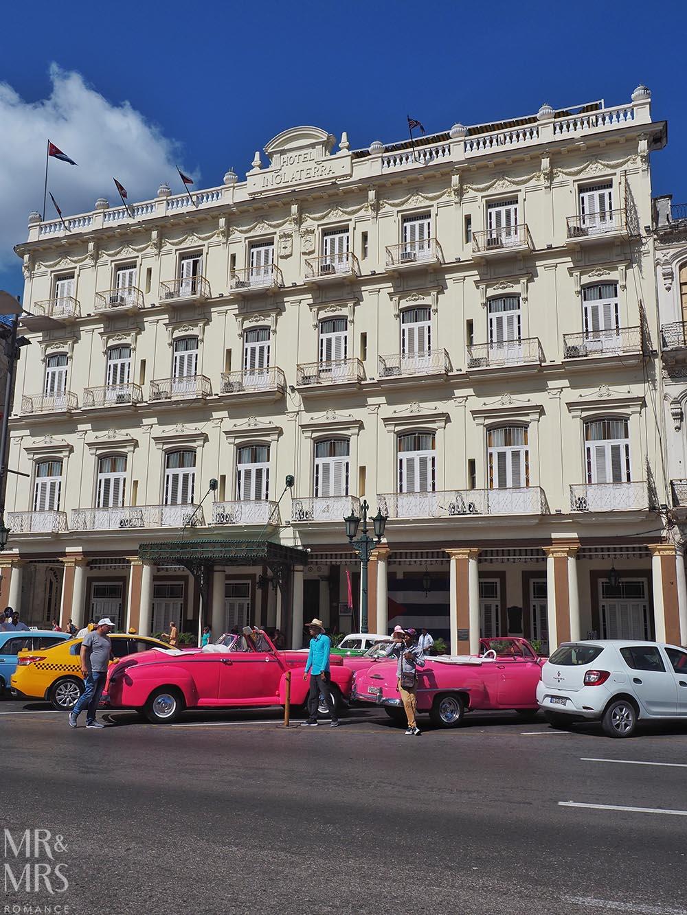 Honeymoon itinerary Cuba - Hotel Ingleterra Havana