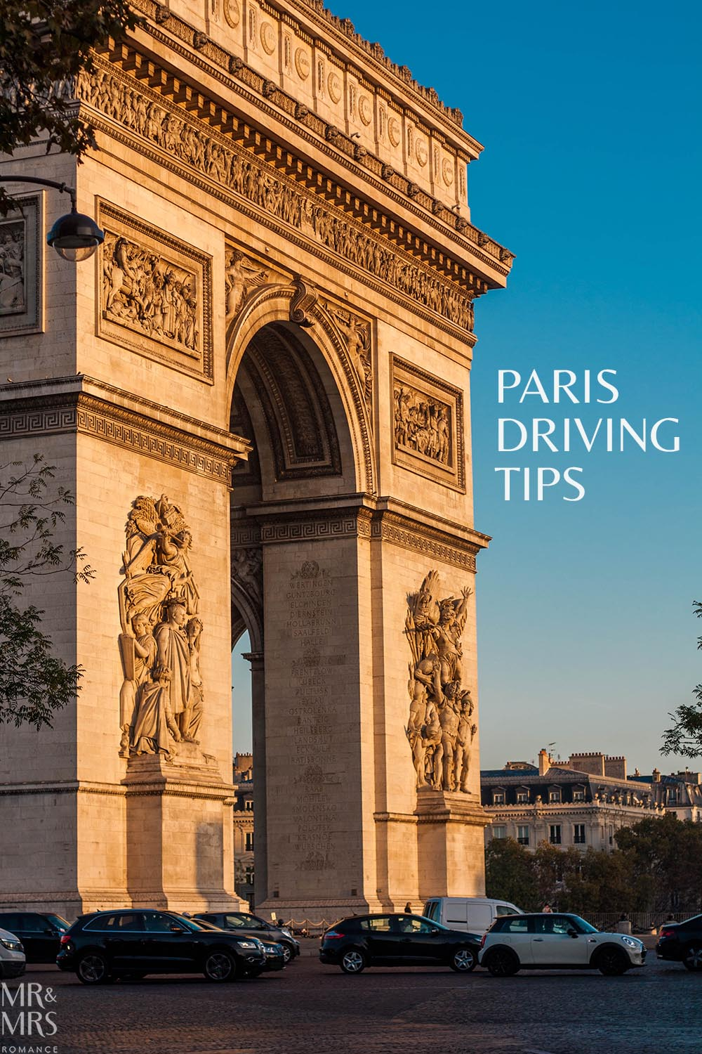Driving in Paris - hire cars Paris - Arc de Triomphe