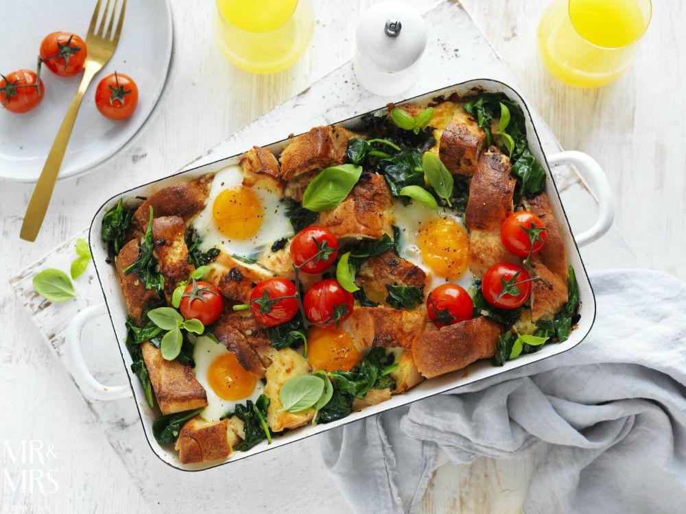 Valentine's Day recipes - Australian Eggs brekkie strata