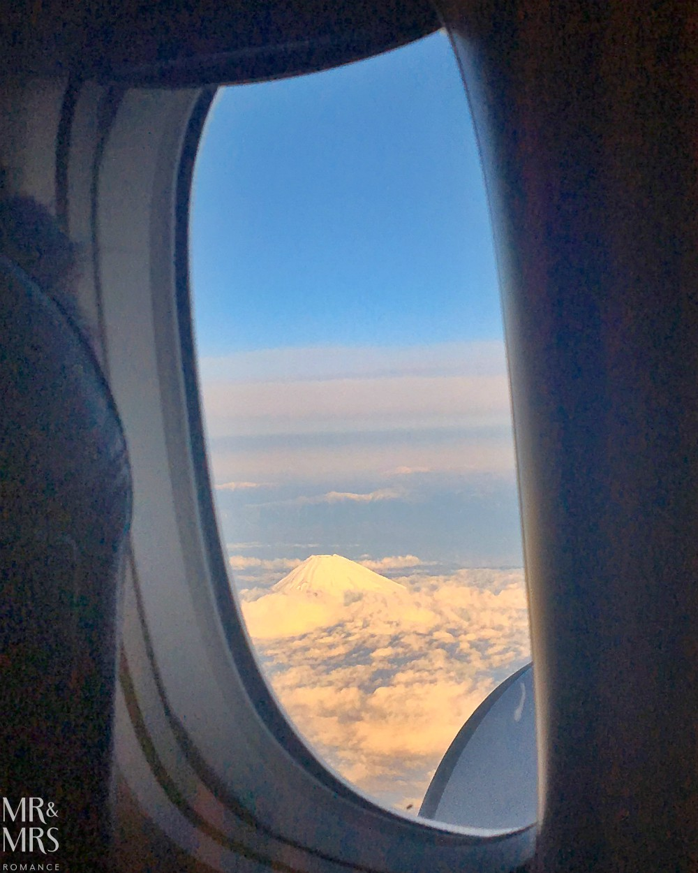How to get to Okinawa, Japan - Mount Fuji from the plane window