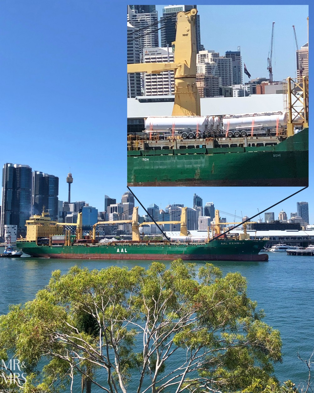 Weekly Edition - tanker on the harbour