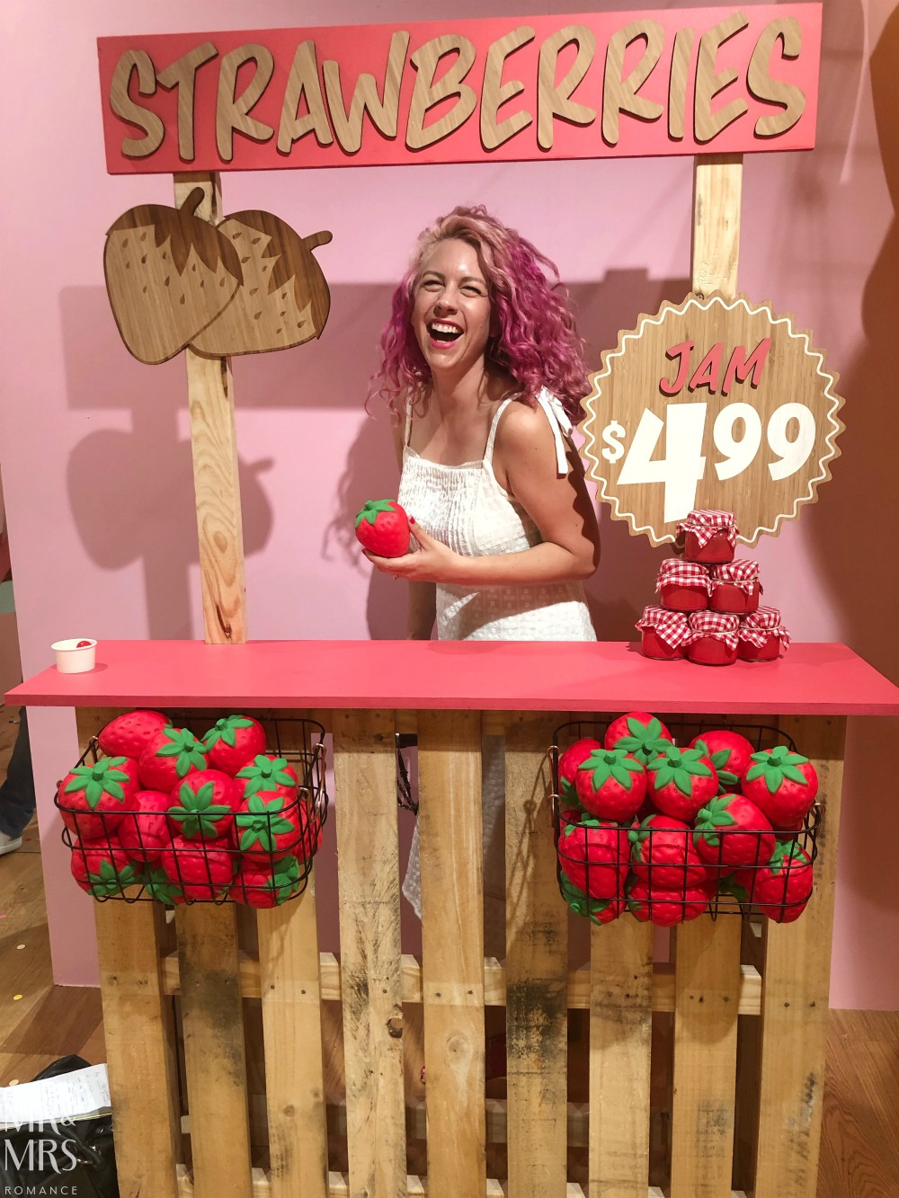 Sugar Republic, Myer Sydney - Christina strawberry stall