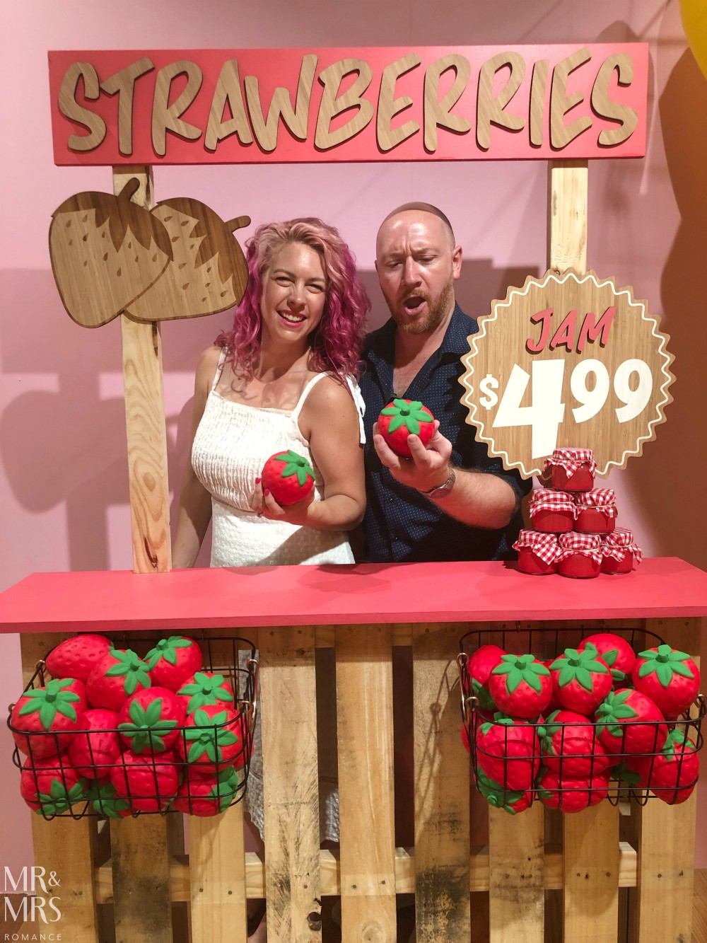 Sugar Republic, Myer Sydney - Jim & Christina strawberry stall