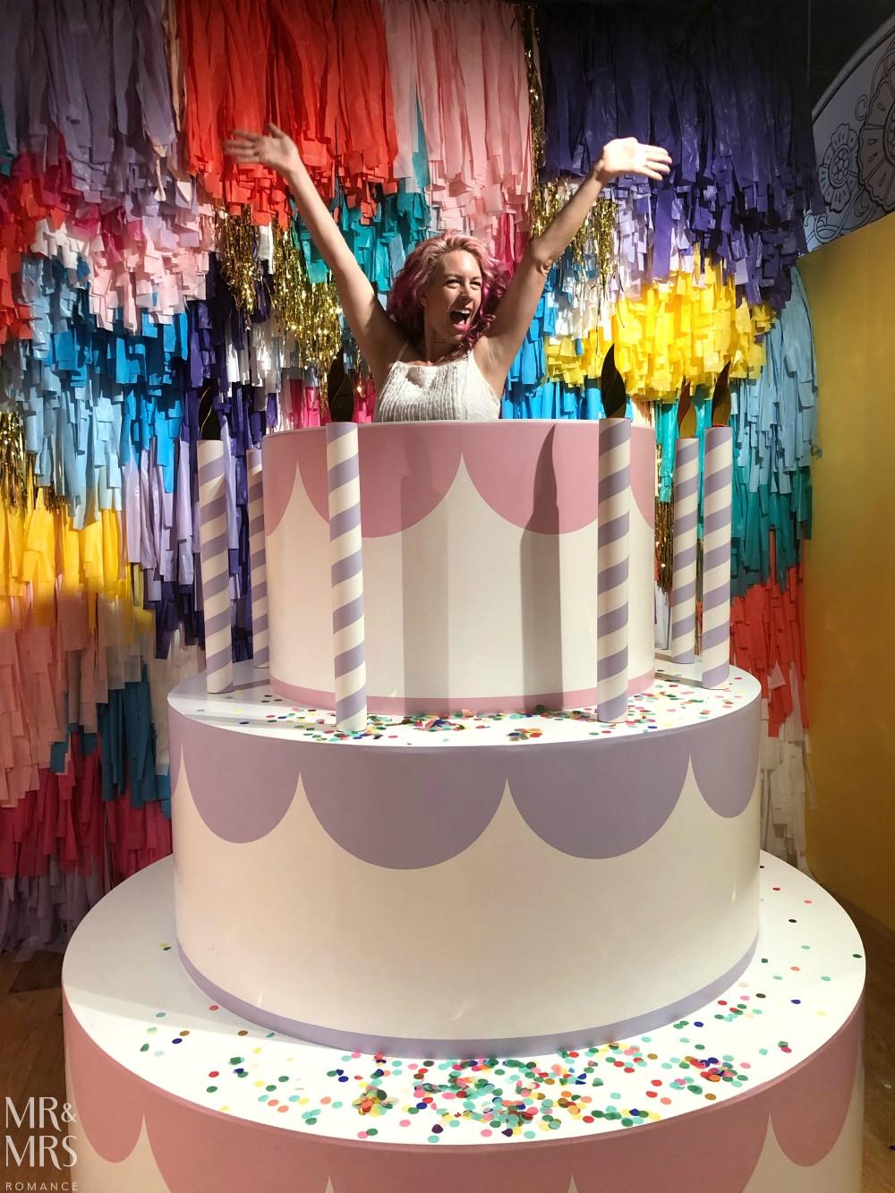 Sugar Republic, Myer Sydney - Christina cake jump