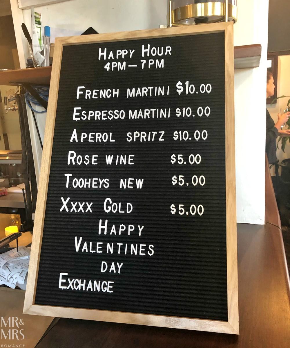 Weekly Edition - Exchange Hotel Balmain Valentine's special