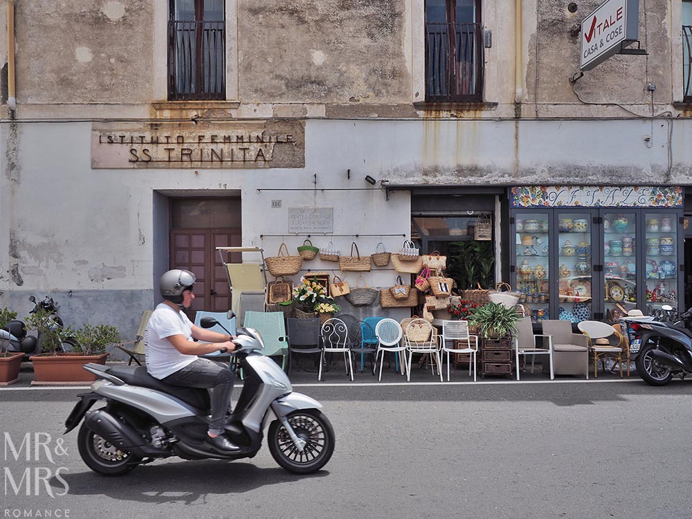 Vespa in Praiano Amalfi Coast