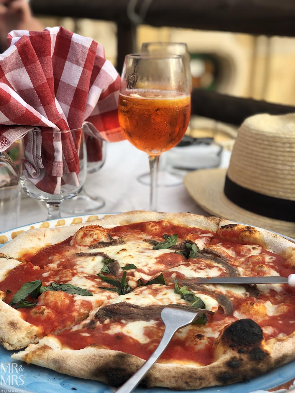 Pizza in Positano Amalfi Coast