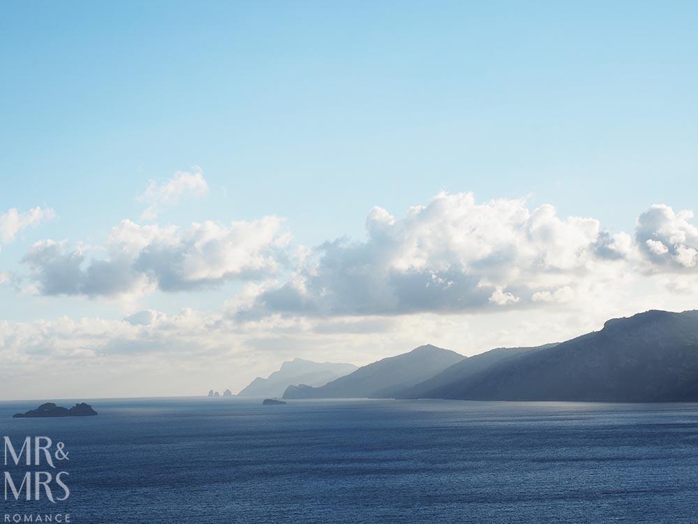 Amalfi Coast sunset views