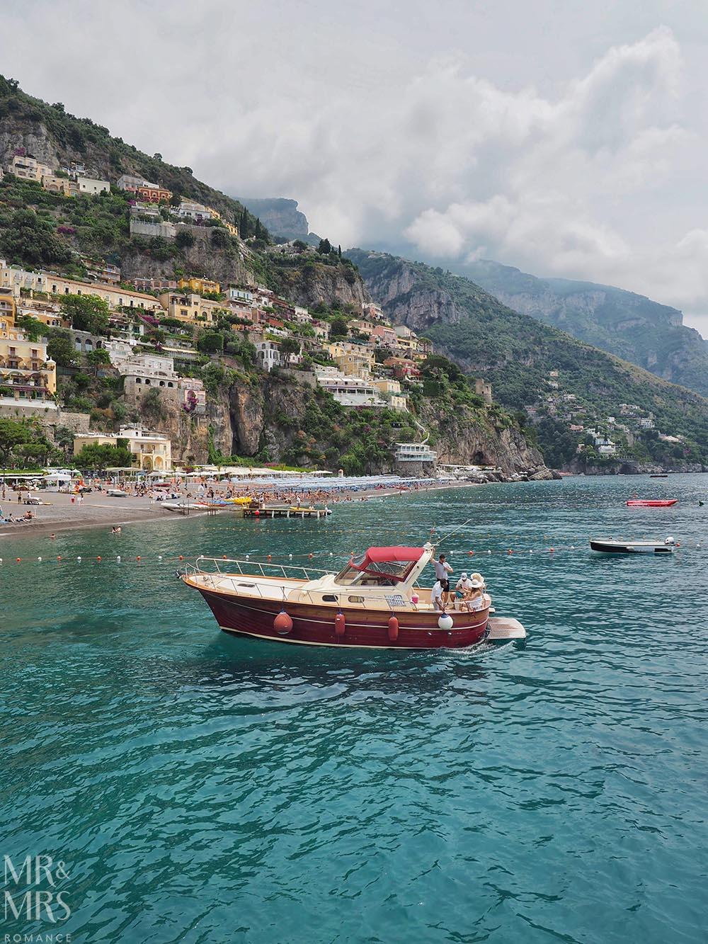 Boats in Positano Amlafi Coast