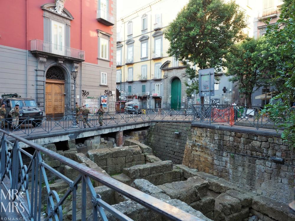 Hotel Piazza Bellini review - Piazza Bellini ancient ruins