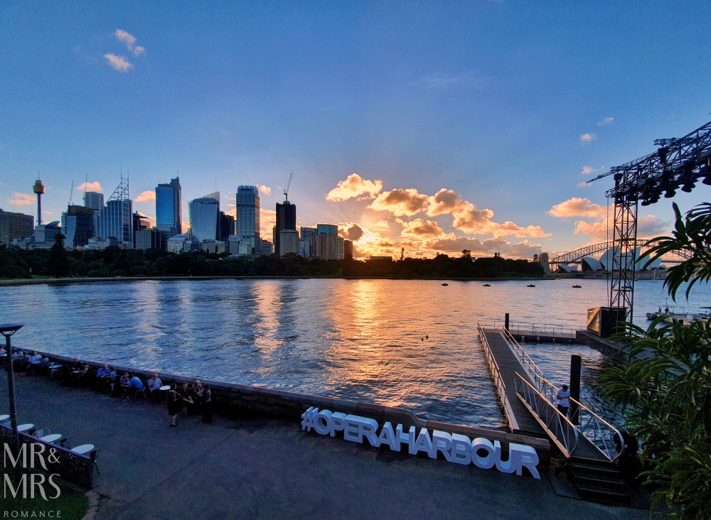 Opera Australia Handa Opera on Sydney Harbour - West Side Story - sunset