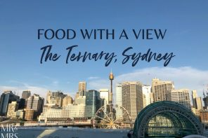 Food with a view – The Ternary, Sydney
