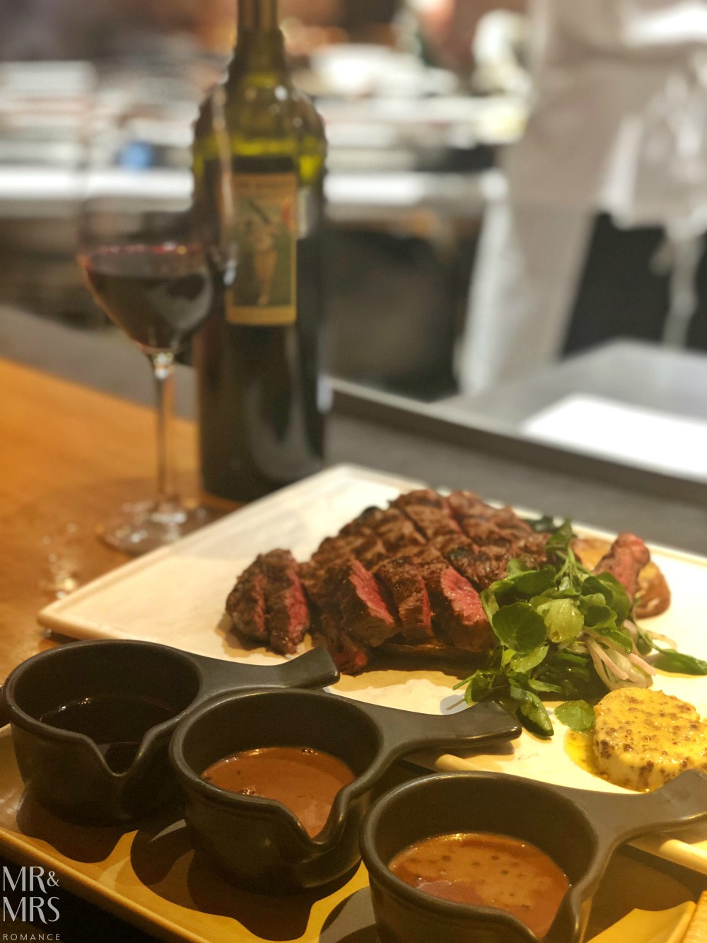 Where to eat in Sydney, Australia - The Ternary 300g scotch fillet and wine